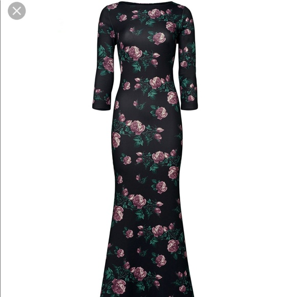 Slate & Willow Dresses   Slate Willow Purple Rose Trumpet Gown ...